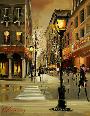 Modern Art Wall Decor Knife Cityscape by Gajoum HD Print Oil Painting on canvas