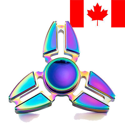 Rainbow Hand Finger Spinner EDC Fidget Stress Relief Focus Toys For Kids Adults