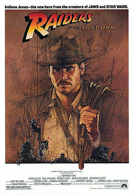 Raiders of the Lost Ark (1981) original movie poster teaser single-sided rolled