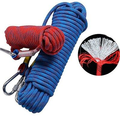 10-30M 15mm Static Rope Rescue Rope Rock Climbing Rappelling Tree Arborist Cord