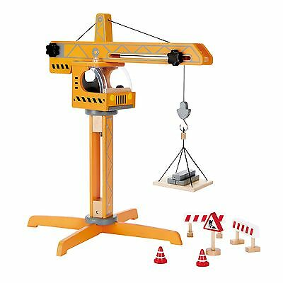 Hape Large Wooden Standing Crane Lift Toy For Kids