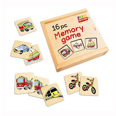 Memory Game Car Fire Truck Child Wooden Learning Educational Game Toy
