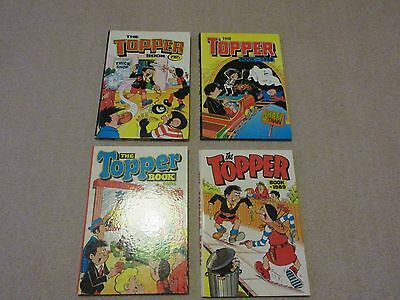 TOPPER BOOKS X 4-1984/85/88/89-VGC-LIKE BEANO &  DANDY-unclipped