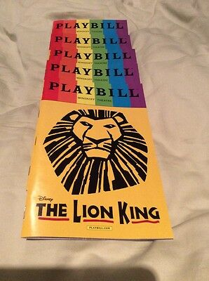 June 2017 Lion King Nyc Playbill Pride Edition New York Rare