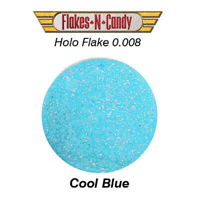METAL FLAKE HOLOGRAM FLAKE GLITTER (0.008) CUSTOM PAINT FLAKES-30G HOLO Cool Blu