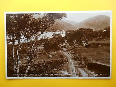Castle from Coilliemor LOCHRANZA Isle of Arran Bute *Vintage* RP 1930s