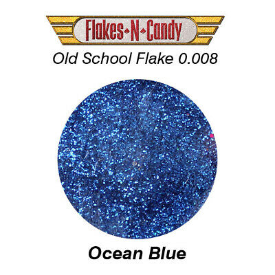 METAL FLAKE GLITTER (0.008) CUSTOM PAINT METAL FLAKES 30G Ocean Blue