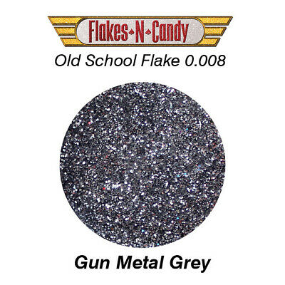 METAL FLAKE GLITTER (0.008) CUSTOM PAINT METAL FLAKES 30G Gun Metal Grey