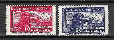 Mexico Sc#Q5-6 MNH Steam Engine Train Locomotive (1947-9)