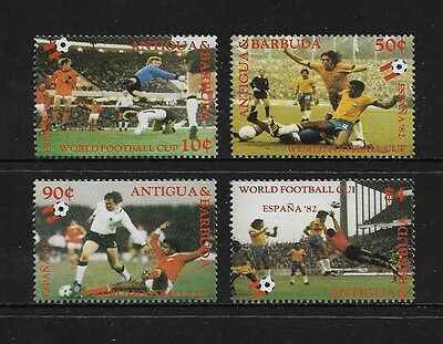 ANTIGUA & BARBUDA - mint 1982 World Cup Football Soccer, red writing, MNH MUH