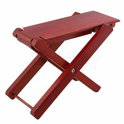 Yibuy Foldable 4-Level Adjustable Height Guitar Pedal Red