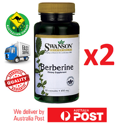 2x Pure Berberine 400 mg 120 Caps by Swanson - Berberis Aristata Root - AU STOCK