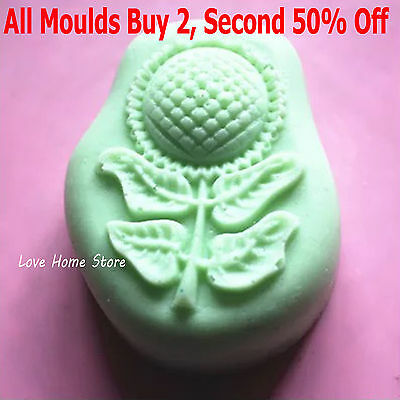 3D sunflower Soap Mold Silicone Baking Cookie Mould Cake Tray Homemade DIY