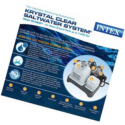 Intex Salt Water Krystal Clear Filter System Swimming Above Ground Pools Pump