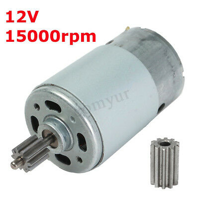 DC 12V 15000RPM High Speed Electric Gear Box Motor For Kids Ride On Car Bike