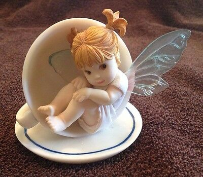 My Little Kitchen Fairies Fairy My Little Cup of Tea 2001 With Box #102540