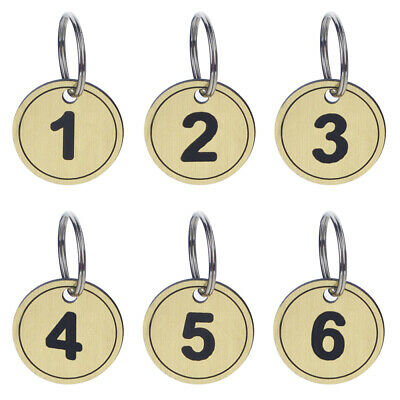 Aspire ABS Key Tags with Ring Numbered Id Tags Key Chain 50 Pieces OffIce Goods