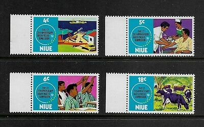 NIUE - mint 1972 75th Anniv South Pacific Commission, No.1, set of 4, MNH MUH