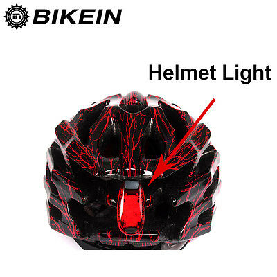 Helmet Mounted Cycle Bike 3 LED Light Night Cycling Bicycle Tail Lights 3 Modes