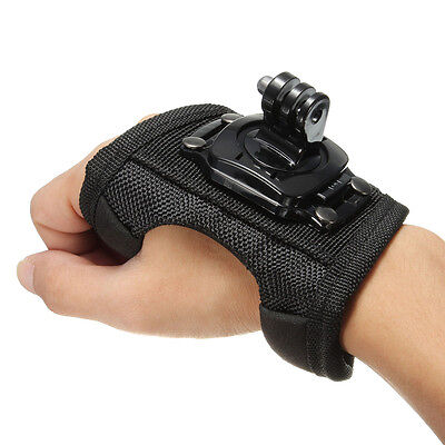 360 Degree Rotate Glove Hand Back Palm Arm Wrist Strap Mount for GoPro Hero 3 4