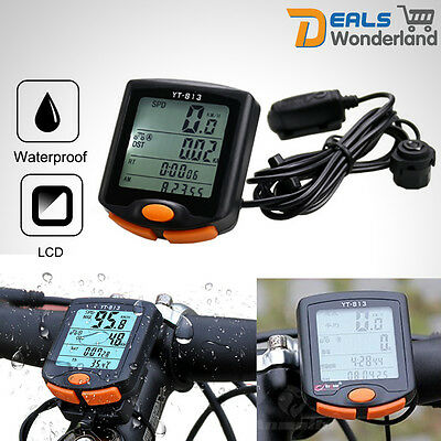Waterproof Wired LCD Computer Odometer Speedometer For Cycling Bicycle Bike New