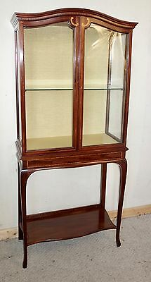 Edwardian Inlay Mahogany Display Cabinet, nationwide delivery