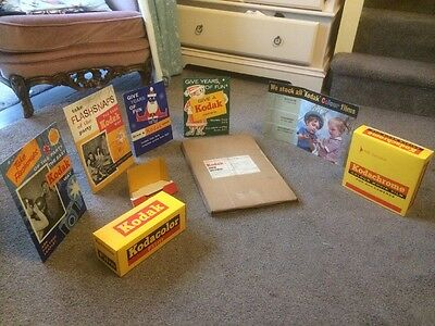 Vintage Kodak Point Of Sale Display Card Advertising Show Material Still Boxed