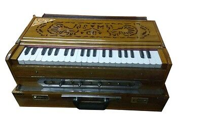 Best Quality Folding Harmonium Traveling Baja Teak Wood Body With Fibre Case