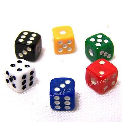 Dolls house Set of 6 tiny Dice