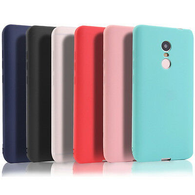 For Xiaomi Redmi Note 4/4X 6 7 Pro Shockproof Matte Soft Rubber TPU Case Cover