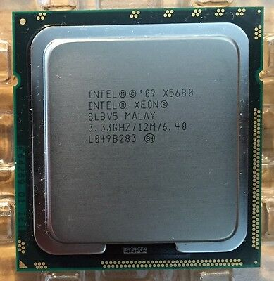 INTEL XEON X5680 3.33GHz 12M HEX CORE SLBV5 CPU / PROCESSOR - 30 AVAILABLE