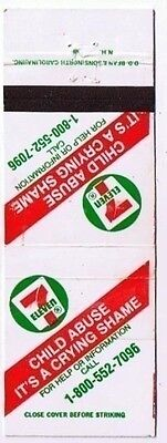 7 Eleven Stores Matchbook Cover Child Abuse It's A Crying Shame