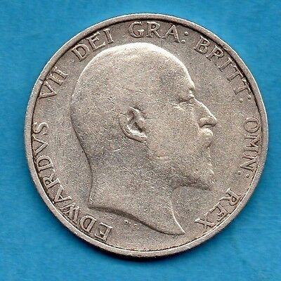 1906 Silver Shilling Coin. King Edward Vii.