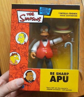 1 WOS simpsons figure toy BE SHARP APU loose complete nip mib new with mailer