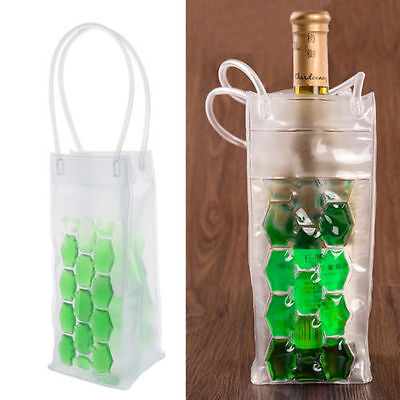 PVC Wine Bottle / Ice Bag Rapid Cooler Cool Can Cooling Gel Holder Gift Party
