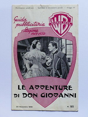 Brochure cinema film - Le avventure di Don Giovanni - ed. 1949