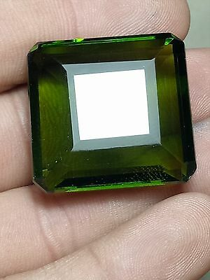 Pakistan Green Peridot 101.5 Ct  Square Cut Loose Gemstone Ebay