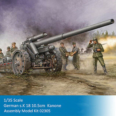 Trumpeter 02305 61601 1/35 1/16 Scale German s.K 18 10.5cm  Kanone Model Kits
