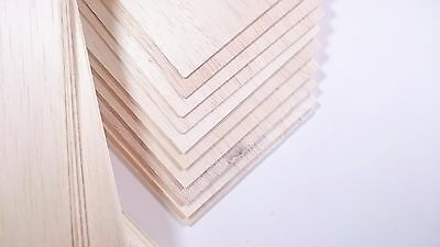 BALSA WOOD SHEET / STRIP 100mmto 400mm / Thickness: 1.0mm to 4.0mm pack