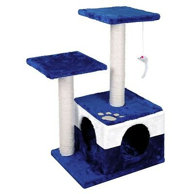 70cm Cat Tree Scratching Post Scratch Pole Scratcher House Condo Bed Blue