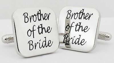 Wholesale Job Lot 42 Pairs Silver Square Wedding Cufflinks Brother of the Bride