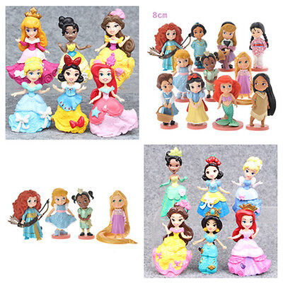 Character World Princess Movie PVC Figuren Action Figur Spielzeug Puppe 6/11 PCS