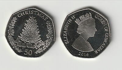 Gibraltar      2016      50 Pence    Christmas Unc    New Issue !!!