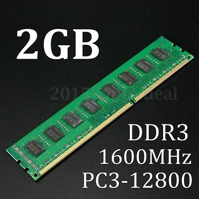 2GB DDR3 1600MHz 240Pin PC3 12800 Desktop PC DIMM Memory RAM For AMD CPU ONLY
