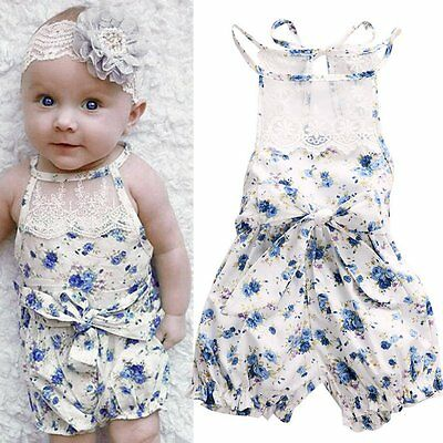 Newborn Infant Baby Girl Boy Floral Jumpsuit Romper Bodysuit Outfits Clothes Set