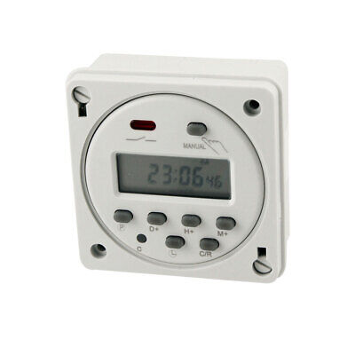 Interruptor de Temporizador Electrónico Programable Digital LED AC220-240V 10A