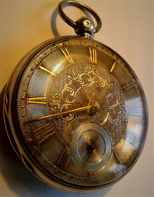 Beautiful ornate early Victorian silver fusee pocket watch c1850