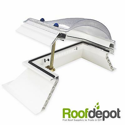 Dome Skylight For Flat Roofs Double & Triple Skin Opening Rooflight & Upstand