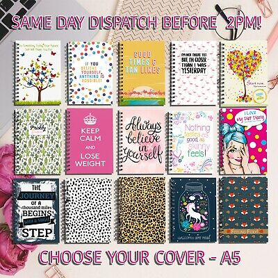 Food Diary, Book, Sw Diet Compatible, Tracker, Journal, Weight Loss, 3 Unicorn