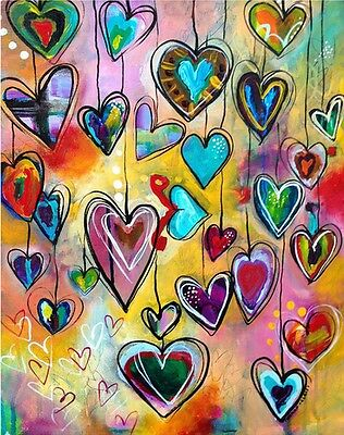 LOVE HEARTS FULL DIAMOND PAINTING KIT 5D CROSS STITCH MOSAICS 25x20CM